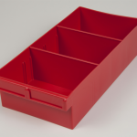 econostore spare parts tray red large