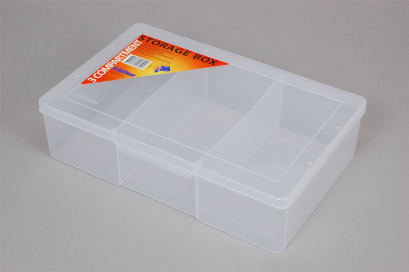 econostore Large 3 Compartment Storage Box Deep