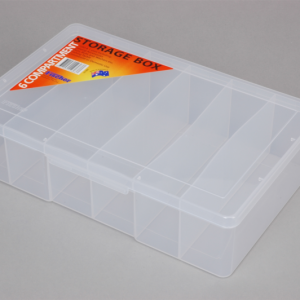 econostore Large 6 Compartment Storage Box Deep