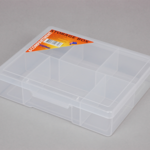 econostore Medium 6 Compartment Storage Box