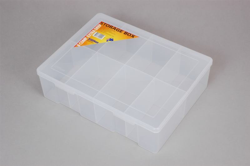 econostore Extra Large 8 Compartment Storage Box Deep