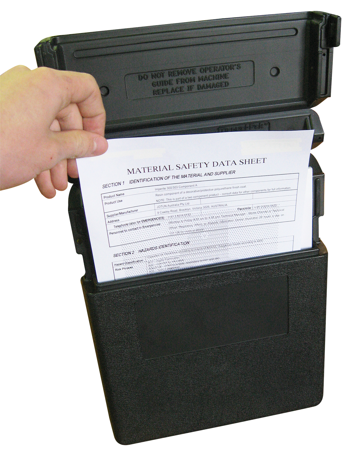 econostore MSDS Document Holder