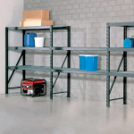 econostore industrial shelving unit with 2 linked starter bays